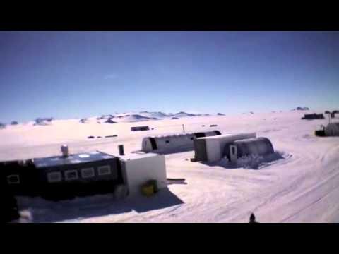 Aerial View of ALE's Union Glacier Base in West Antarctica