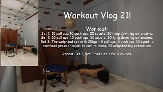 Workout Vlog 21! #trainwithgiles #fit #fitness #coach #dailytraining #dailygrind #calisthenics #hiit