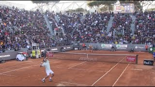 Roger FEDERER - CORIC | Court Level View | Best Points | Roma 2019 | Stunning Atmosphere !