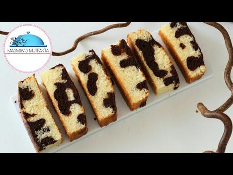 Pamuk gibi ÇİKOLATALI EBRULİ Kek Tarifi |Pasta Tarifleri🍃#Masmavi3Mutfakta