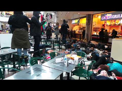 #DCFerguson does a die-in at the food court in Pentagon Mall