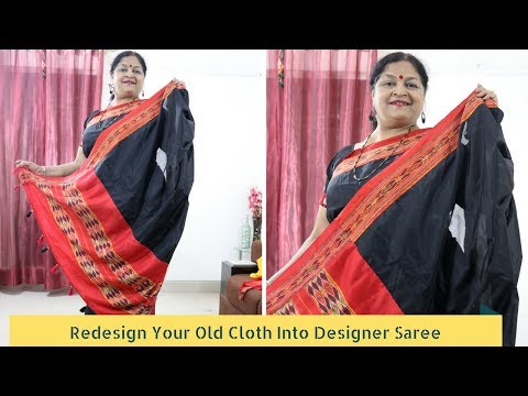 Redesign Your Old Saree Into Designer Black Tassel Saree | DIY Saree Designing