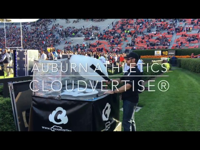 Custom Flying Cloud Logo Aerial Marketing - Cloudvertise® | Auburn Football