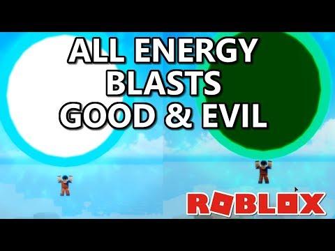 All Energy Blasts GOOD and EVIL Dragon Ball Ultimate Roblox #Dragonballroblox Dragon Blox Ultimate