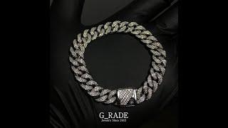 G_RADE Jewelry 지레이드 쥬얼리 [Full Ice Cubanlink Chain (10mm Smal…