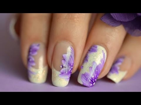 nail art fasteasy french manicure flower  youtube