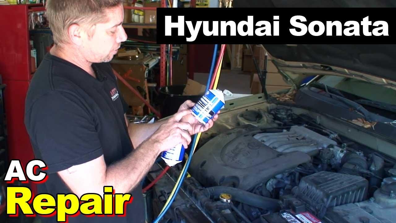 2004 Hyundai Sonata Ac Repair Youtube Condensing Unit Wiring