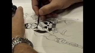 Tim Sale Sketching/drawing The Punisher