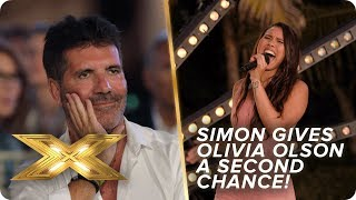 Simon gives nervous Olivia Olson a second chance | X Factor: Celebrity
