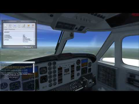 FSX Beechcraft King Air Montreal to Toronto