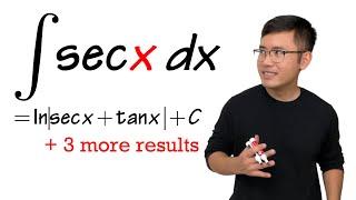 integral of sec(x), 4 results!