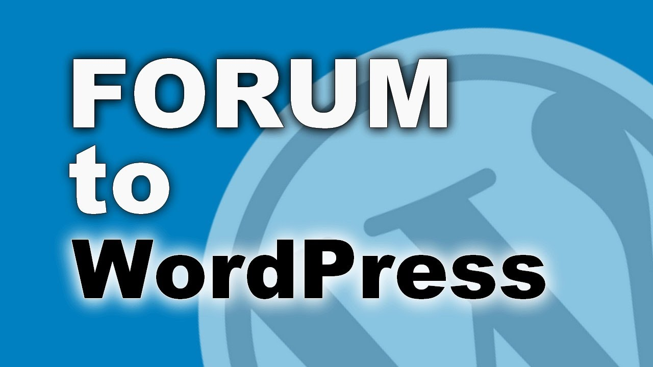 Image result for forum to wordpress