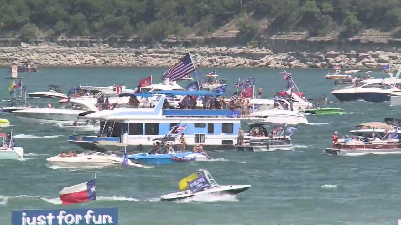 Trump supporters hold boat parade at Lake Travis Saturday morning ...
