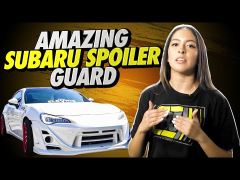Amazing Subaru BRX Spoiler Scrape Guard Install (DIY)