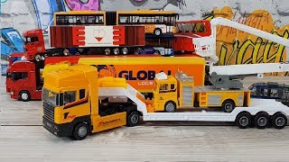 Welly Bus Welly Truck Train unboxing video for kids