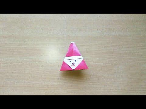 DIY Origami Santa
