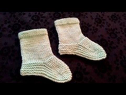 Socks On Two Needles 1 Year Baby In Urduhindi By Azra Salim