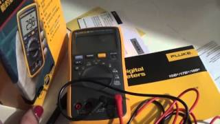 FLUKE 18B+ multimeter first look...