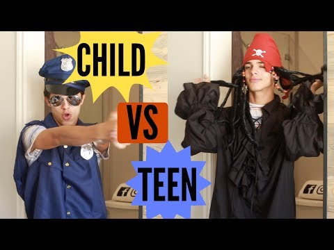 CHILD VS TEEN: Halloween! | Brent Rivera