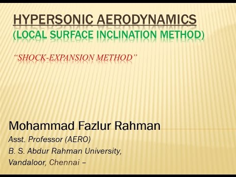 Hypersonic Aerodynamics 11