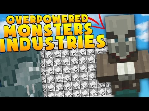 BRAND NEW OVERPOWERED Minecraft MONSTERS INDUSTRIES 2.0 - EPIC SECRET UPDATED MAP