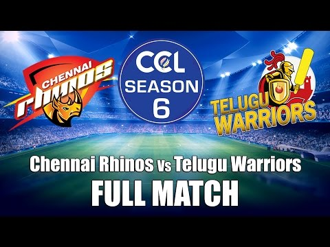 Celebrity Cricket League (CCL6) Chennai Rhinos Vs Telugu Warrios - Full Match