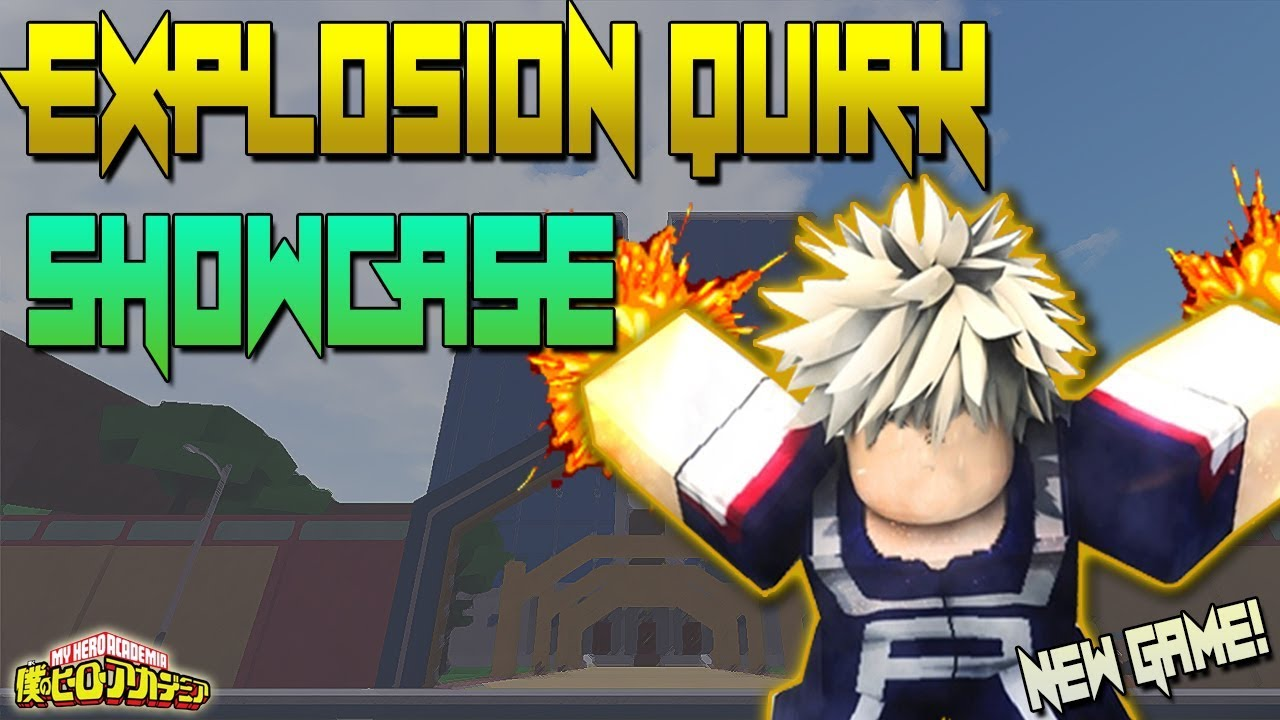 [ALL NEW CODES!] EXPLOSION QUIRK SHOWCASE | MY HERO ONLINE | ROBLOX | NEW  MY HERO ACADEMIA GAME!
