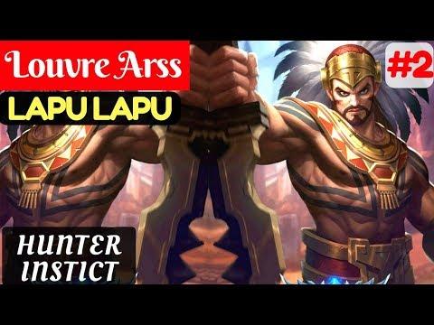 Hunter Instict [Rank 2 Lapu Lapu] | Louvre Arss Lapu Lapu Gameplay and Build #2 Mobile Legends