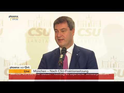 Pressekonferenz mit Thomas Kreuzer und Markus Söder (CSU) am 04.12.17