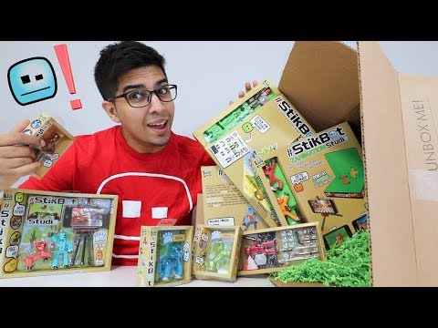 UNBOXING - STIKBOT Influencer Box - Special Exclusive Gift (MOVIE SETS, ACTION, STUDIO PACKS, MORE)