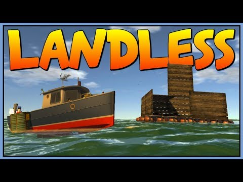 BUILDING AN AWESOME WATER BASE - Floating Raft City - Let's Play Landless Gameplay
