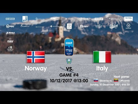 Norway - Italy #IIHFWJC1B #Bled