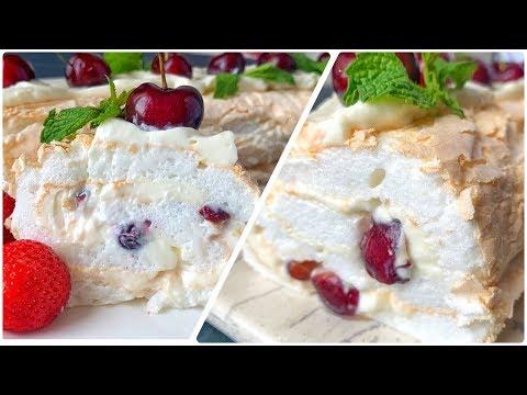МЕРЕНГОВЫЙ РУЛЕТ  ☆ Нежнее этого десерта я ни пробовала ☆ Дастархан ☆ Безе рулет