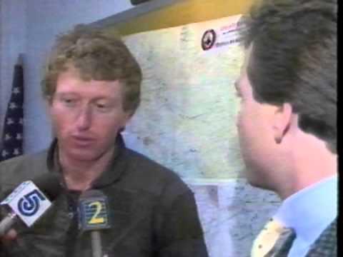 November 1987 - Close Call for Race Car Driver Bill Elliott