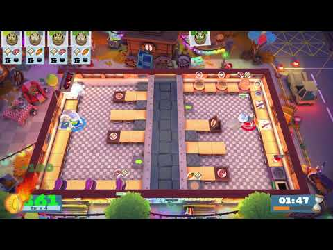 Overcooked 2 Carnival of Chaos Kevin 1 4 Stars 2 Player Coop  