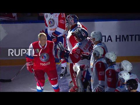 Russia: Putin hits the ice for Night Hockey League festival in Sochi