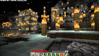 The Greatest of the Minecraft cities, fallen prey to fire