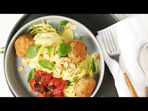 recette-capellinis-aux-courgettes-et-boulettes-aux-fines-herbes,-sauce-curry-safran---colruyt