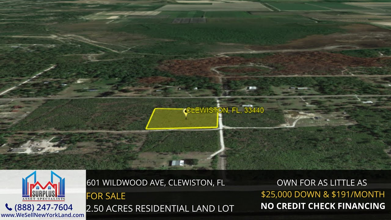 601 Wildwood Ave, Clewiston, FL (Reference Only) - Florida Land For Sale - www.WeSellNewYorkLand.com