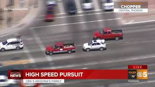 43 Mins and 35 Seconds of Phoenix Police Chase (HIGH SPEED PURSUIT)