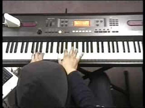 Win Brian Mcknight played  piano