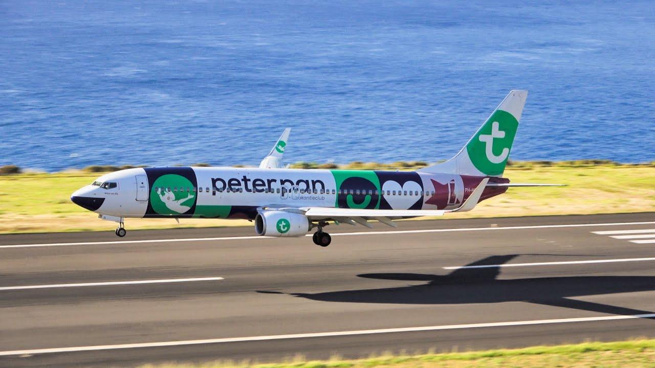 PETER PAN LIVERY TRANSAVIA B737 at Madeira Airport 13.07.2020