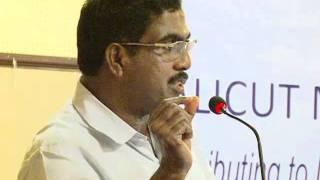 calicut management association speech by mr m p ahamed on 5th september 2011 part 01