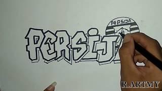 Cara Membuat Grafiti Persija Jakarta Mudah