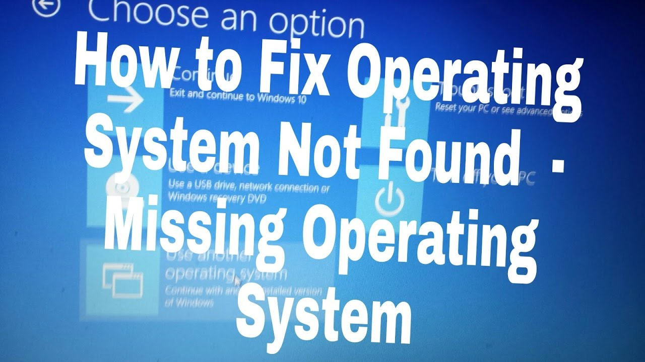 Hp notebook operating system not found