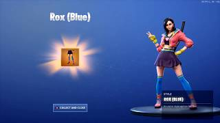 *NEW* UNLOCKING ROX STYLE (BLUE) Outfit on Fortnite Battle Royale Season 9