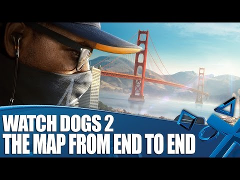 Watch Dogs 2 - The Map From End To End