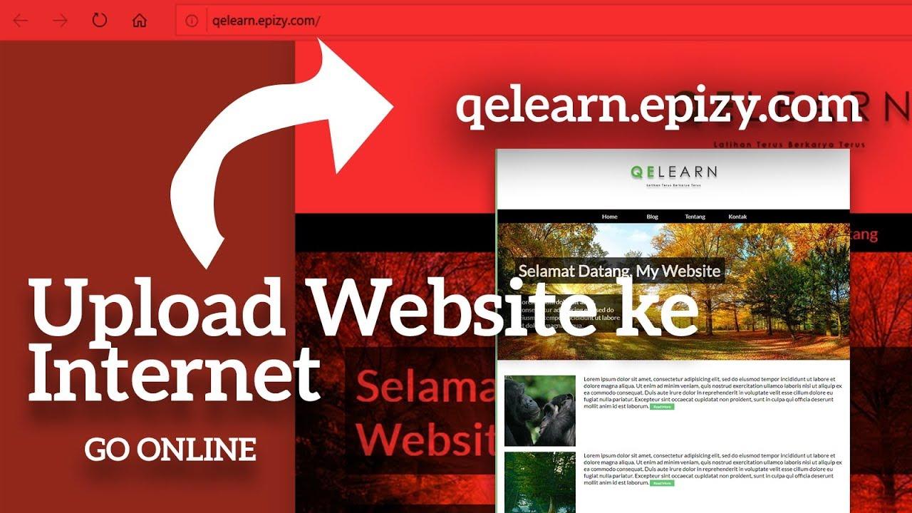 cara upload website ke internet sampai online