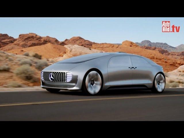 Mercedes F 015 - der selbstfahrende Stern (CES 2015 )