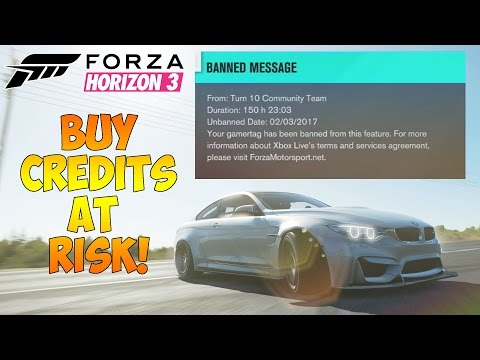 Forza Horizon 3 - Temporarily banned - Purchase Credits at your own risk!